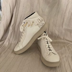 Uggs white Cali embroidered high top sneakers men